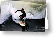 California Surfer Greeting Card by Catherine Sherman