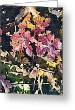 California Vineyard Series Fall Grape Leaves Greeting Card by Artist and Photographer Laura Wrede