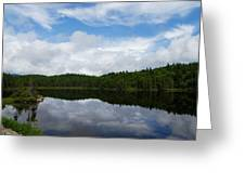 Calm Lake - Turbulent Sky Greeting Card by Georgia Mizuleva