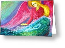 Calming Angel Greeting Card by Jane Small