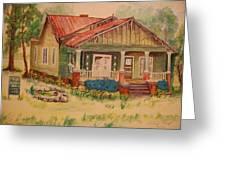 Calvin Baber House Greeting Card by Lynn Beazley Blair