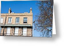 Cambridge Apartments Greeting Card by Tom Gowanlock