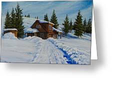 Cambridge Cabin Greeting Card by C Steele