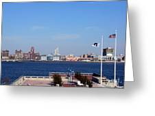 Camden Waterfront Greeting Card by Olivier Le Queinec
