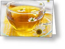 Camomile Tea Greeting Card by Elena Elisseeva
