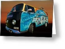 Camper Van Paint Job Greeting Card by Pete Hemington
