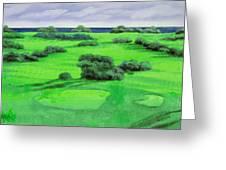 Campo Da Golf Greeting Card by Guido Borelli