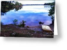 Campsite Serenity Greeting Card by Thomas R Fletcher