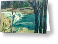 Canajoharie Creek Near Village Greeting Card by Betty Pieper