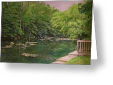 Canal At Prallsville Mills Greeting Card by Aurelia Nieves-Callwood