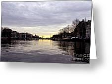 Canals Of Amsterdam Greeting Card by Pravine Chester