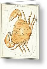 Cancer Constellation - 1825 Greeting Card by Daniel Hagerman