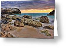 Cancun Coastal Sunrise Greeting Card by Marcia Colelli