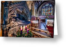 Candles At Christmas Greeting Card by Adrian Evans