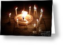 Candles For Innocent Souls Greeting Card by Karam Halim