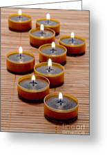 Candles Greeting Card by Olivier Le Queinec