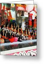 Candy Apples Greeting Card by Susan Savad