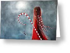 Candy Cane Fairy by Shawna Erback Greeting Card by Shawna Erback