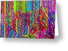Candy Twists Greeting Card by Alixandra Mullins