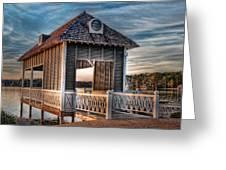 Canebrake Boat House Greeting Card by Brenda Bryant
