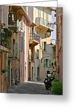 Cannes - Le Suquet - France Greeting Card by Christine Till