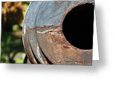 Cannon Barrel Fountain Of Youth Greeting Card by Christine Till