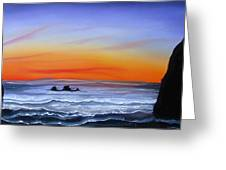 Cannon Beach At Sunset 16 Greeting Card by James Dunbar