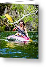 Canoe For Girls Greeting Card by Sotiris Filippou
