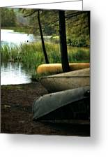 Canoe Trio Greeting Card by Michelle Calkins