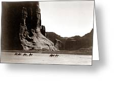 Canonde Chelly Az 1904 Greeting Card by Edward S Curtis