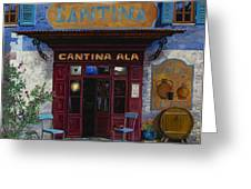 cantina Ala Greeting Card by Guido Borelli