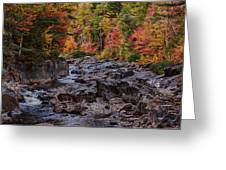 Canyon Color Rushing Waters Greeting Card by Jeff Folger