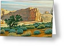 Canyon Country Buck Greeting Card by Paul Krapf