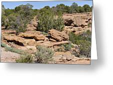 Canyon De Chelly - A Blend Of Cultures Greeting Card by Christine Till