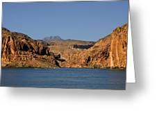 Canyon Lake Of Arizona - Land Big Fish Greeting Card by Christine Till