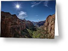 Canyon Overlook Greeting Card by Jeff Burton