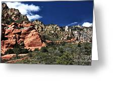 Canyon View Greeting Card by John Rizzuto
