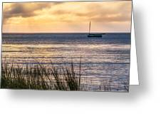 Cape Cod Bay Square Greeting Card by Bill  Wakeley