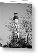 Cape May Light B/w Greeting Card by Jennifer Lyon