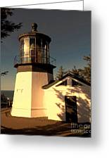 Cape Meares Lighthouse Greeting Card by Jon Burch Photography