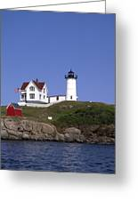 Cape Neddick Light Station In Maine Greeting Card by Mountain Dreams