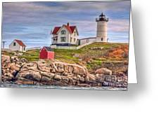 Cape Neddick Nubble Lighthouse II Greeting Card by Clarence Holmes
