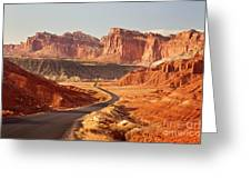 Capitol Reef National Park Landscape Greeting Card by Carolyn Rauh