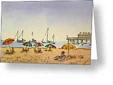 Capitola - California Sketchbook Project  Greeting Card by Irina Sztukowski