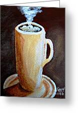 Cappuccino 3 Greeting Card by Christine Huwer