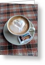 Cappuccino Love Greeting Card by Ausra Paulauskaite