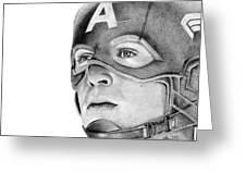 Captain America Greeting Card by Kayleigh Semeniuk