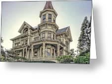 Captain George Flavel Victorian House - Astoria Oregon Greeting Card by Daniel Hagerman
