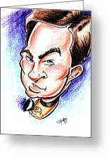 Captain Kirk Greeting Card by Big Mike Roate