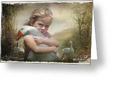 Captured Memories-not The Perfect World Greeting Card by Adelita Rog